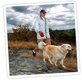 Man med hund